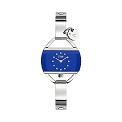 STORM London - Ladies lazer blue TEMPTRESS CHARM metal strap watch tempt charm blu