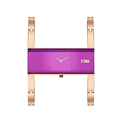 STORM - Ladies purple AKIKO metal strap watch