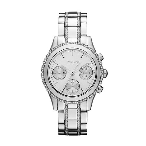 DKNY - Ladies silver chronograph dial watch