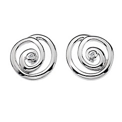 Hot Diamonds - Sterling silver 'Spiral Stud' earrings
