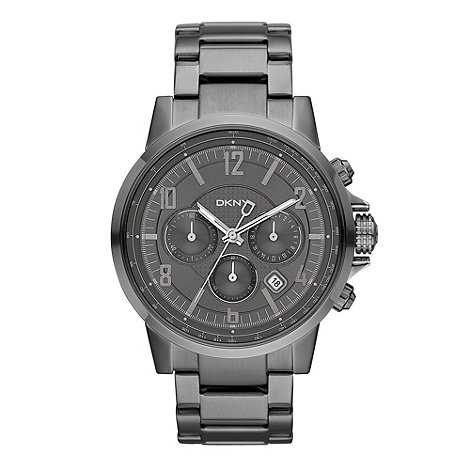 DKNY - Men+s chrome watch
