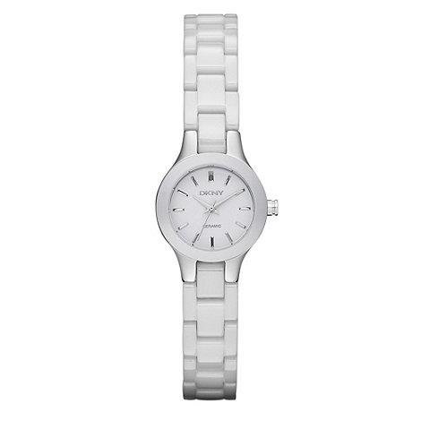 DKNY - Ladies white ceramic watch