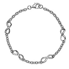 Hot Diamonds - Sterling silver 'Infinity' bracelet'