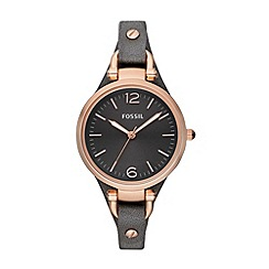 Fossil - Ladies grey strap watch