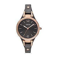 Fossil - Ladies grey strap watch