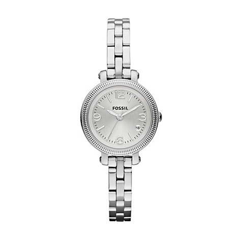 Fossil - Ladies silver small round bracelet watch
