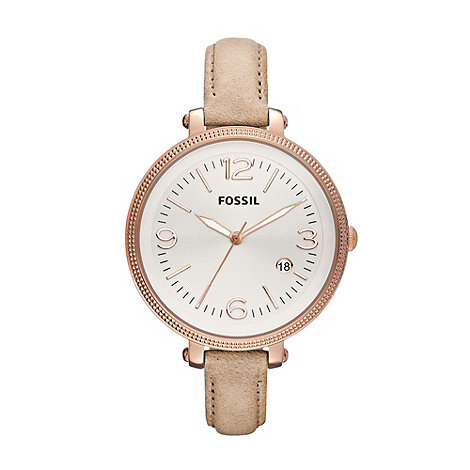 Fossil - Ladies rose round dial watch