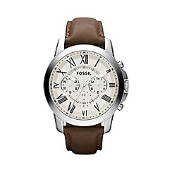 Fossil - Men's brown round chronograph watch fs4735