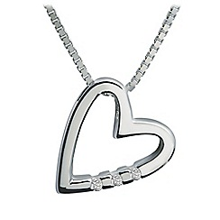 Hot Diamonds - Sterling silver 'Head Over Heels' pendant