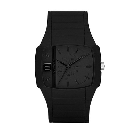 Diesel - Men+s black square dial watch