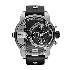 Diesel - Men's black large chronograph watch