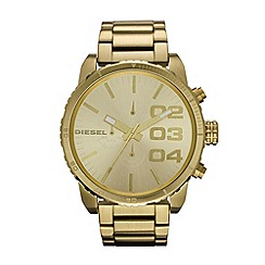 Diesel - Men's gold large chronograph watch