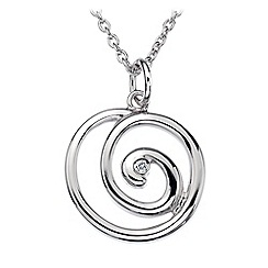 Hot Diamonds - Sterling silver 'Eternity Spiral' pendant