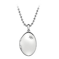 Hot Diamonds - Sterling silver Memoirs Oval Locket