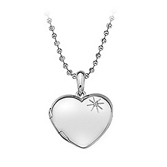 Hot Diamonds - Sterling silver Memoirs Heart Locket