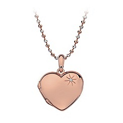 Hot Diamonds - Sterling silver and Rose gold plated Heart locket