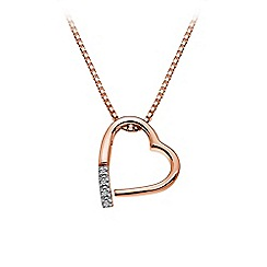 Hot Diamonds - Rose gold plated 'Just Add Love' pendant