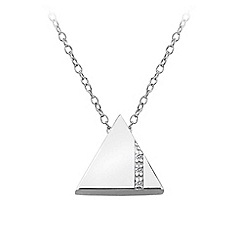 Hot Diamonds - Sterling Silver Silhouette Triangle Pendant