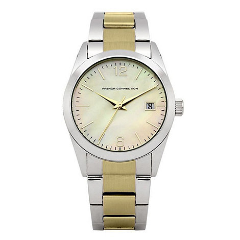 French Connection - Ladies silver mixed plated bracelet watch