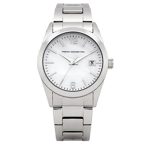 French Connection - Ladies silver mother of pearl dial watch