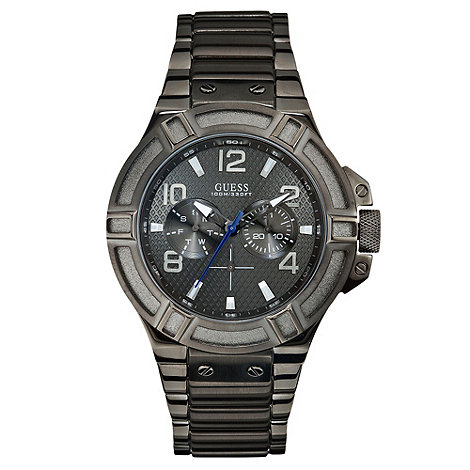 Guess - Men+s chronograph black watch