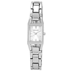 Anne Klein - Ladies silver squar dial bracelet watch