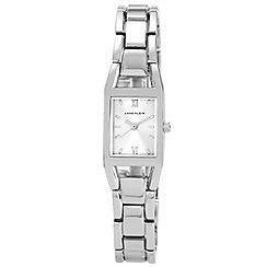 Anne Klein - Ladies silver squar dial bracelet watch