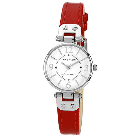 Anne Klein - Ladies red strap watch