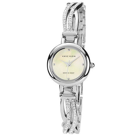 Anne Klein - Ladies silver stone bracelet watch