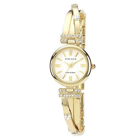 Anne Klein - Ladies gold wrap over stone bracelet watch