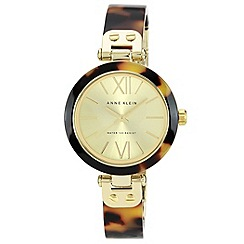 Anne Klein - Ladies brown tortoise shell bracelet watch