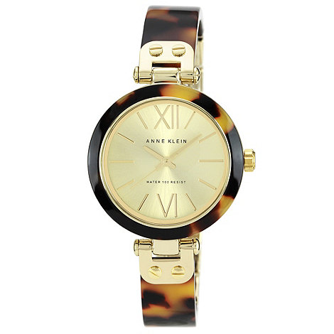 Anne Klein - Ladies brown tortoise shell bracelet watch 10/n9652chto