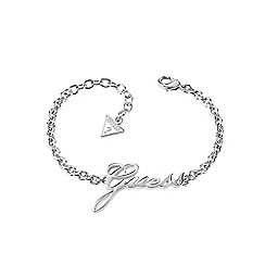 Guess - Rhodium plated love lock chain bracelet ubb82066-l