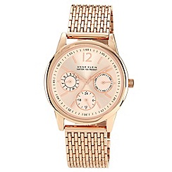 Anne Klein - Ladies rose gold round dial bracelet watch