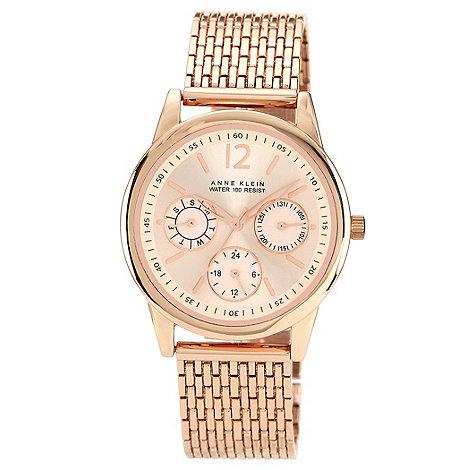 Anne Klein - Ladies rose gold round dial bracelet watch