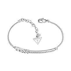 Guess - Rhodium plated GUESS bar bracelet