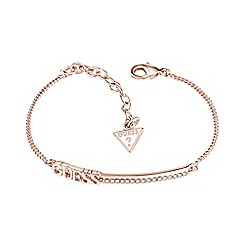Guess - Rose gold plated GUESS bar bracelet