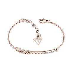 Guess - Rose gold plated branded bar bracelet ubb82039-l