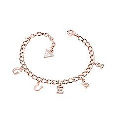 Guess - Rose gold plated letter charm link bracelet ubb61082-l