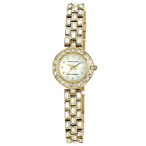 Anne Klein - Ladies gold jewel link bracelet watch
