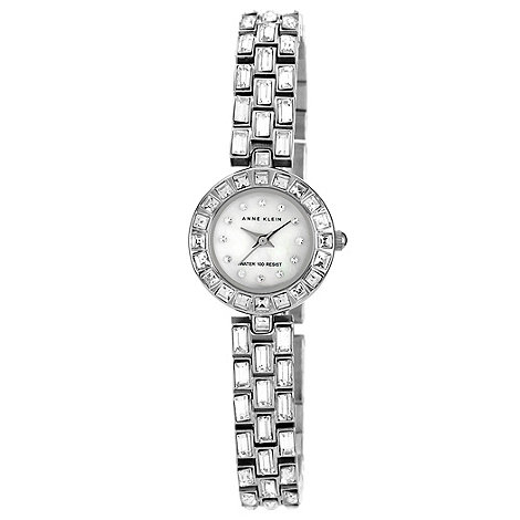 Anne Klein - Ladies silver jewel link bracelet watch