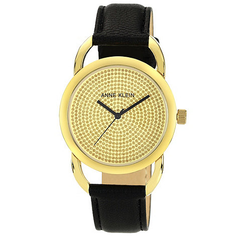 Anne Klein - Ladies black stone dial watch