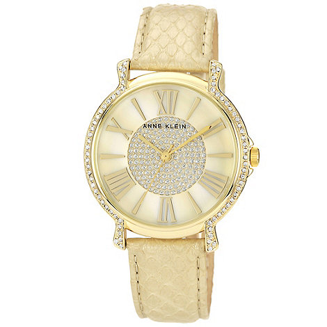 Anne Klein - Ladies light gold faux snakeskin watch