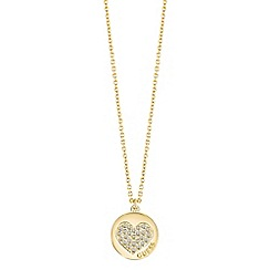 Guess - Gold plated heart necklace features ubn82051