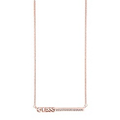 Guess - Rose gold plated logo necklace ubn82035