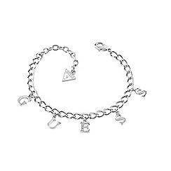 Guess - Rhodium plated letter charm link bracelet ubb61080-l