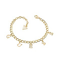 Guess - Charm gold plated link bracelet