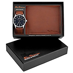 Ben Sherman - Men's light brown watch and wallet gift set