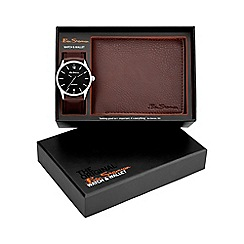Ben Sherman - Men's brown watch and wallet gift set