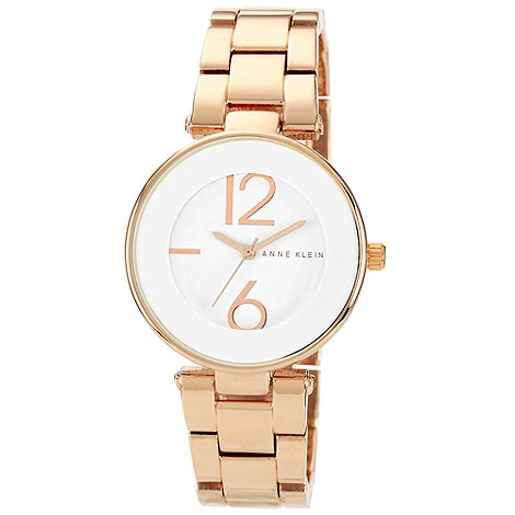 Anne Klein - Ladies white dial rose bracelet watch